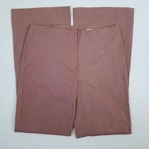 H&M Red/White Thin Stripe Flare Pants 12